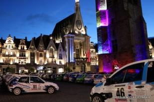 Rallye Le Béthunois - parc d'assistance la nuit